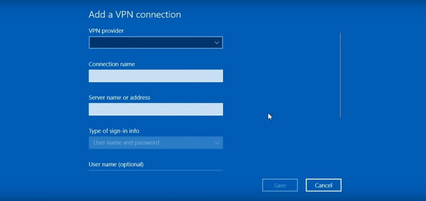 How to Set Up a VPN - Add a VPN Connection