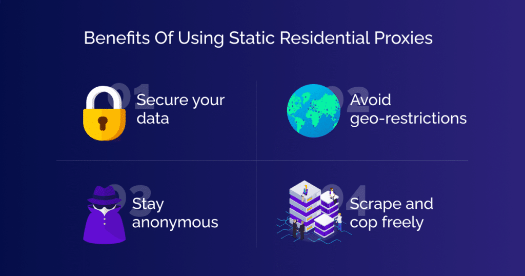 Benefits of using static residential proxies